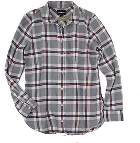 J.Crew Women`s Plaid Long Sleeve Flannel Boy Shirt / J.Crew Women`s Plaid Long Sleeve Flannel Boy Shirt