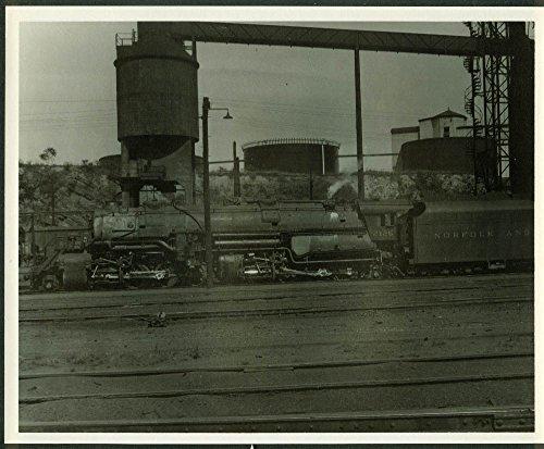 Norfolk & Western Railway 2-8-8-2 #2126 idling at Roanoke VA 8x10
