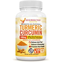 Turmeric Curcumin with Black Pepper - Value Size 2 Month Supply - Natural Joint Support and Inflammation Reducer - Vegetarian-Friendly w/ 95% Standardized Curcuminoids + Bio-Perine for Max Absorption