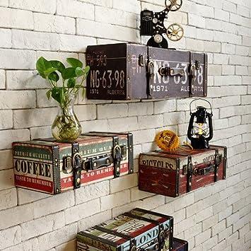 Vintage retro barra de PU paiting de cuero equipaje maleta cuadro hogar KTV pub decoración de la pared decorativa: Amazon.es: Hogar