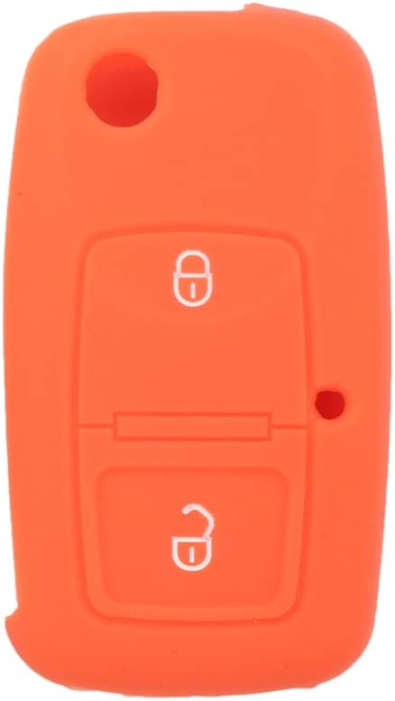 SEGADEN Silicone Cover Protector Case Skin Jacket Compatible with VOLKSWAGEN 2 Button Flip Remote Key Fob CV9805 Light Green