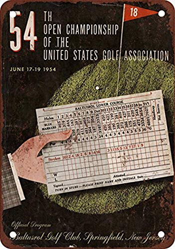 MarinaPolly 1954 US Open Baltusrol Golf Club Vintage Look Reproduction Pub Home Decor Metal Signs 8X12 Inches