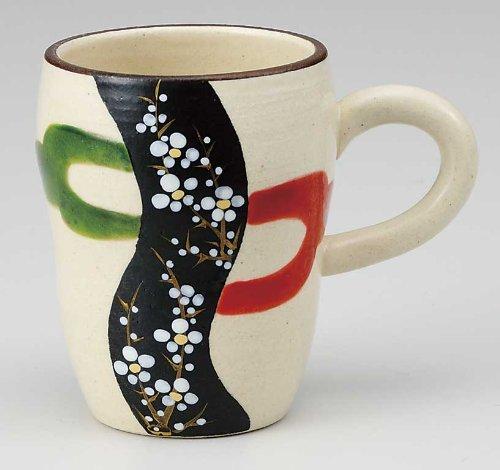 KUTANI YAKI(ware) Coffee Mug Plum by Kutani
