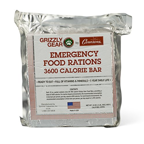 Large Product Image of Emergency Food Rations - 3600 Calorie Bar - 3 Day Supply - Less Sugar and More Nutrients Than Other Leading Brands - (5 Year Shelf Life)-9 bars