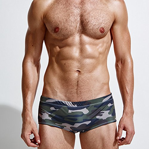ZQ@QXMen's fashion nylon camouflage boxer trunks,L