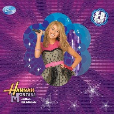 Montana 2010 Calendar - Hannah Montana 3-D 2010 Wall Calendar