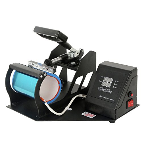 - TC-Home New Dual Digital Display Heat Press Transfer Sublimation Machine for Cup Coffee Mug