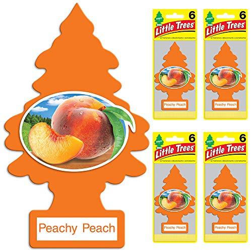 Little Trees auto air freshener, Peachy Peach, 6-Packs (4 Count)