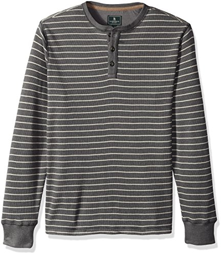 G.H. Bass & Co. Men's Long Sleeve Waffle Graphic Crewneck Pullover, Castle Rock, X-Large