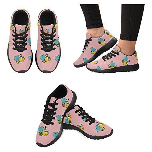 Interestprint Womens Jogging Running Sneaker Leggero Go Easy Walking Casual Comfort Sport Scarpe Da Corsa Bees Seamless Pattern Multi 1