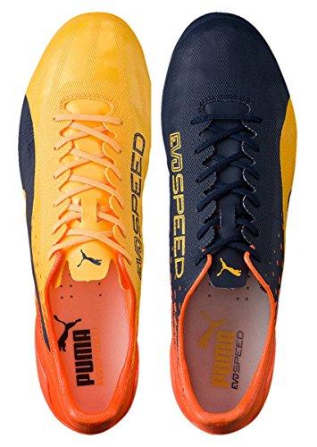 Puma Evospeed 17 Sl Fg, Botas de Fútbol para Hombre ULTRA YELLOW-Peacoat-Orange Clown Fish