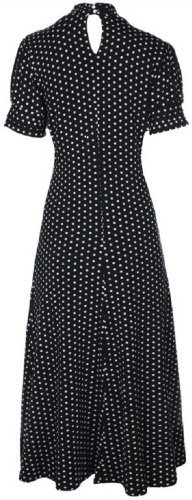 Lindy-Bop-Amie-Classy-Polka-Dot-Vintage-40s-50s-Retro-Tea-Dress-6XL-Black
