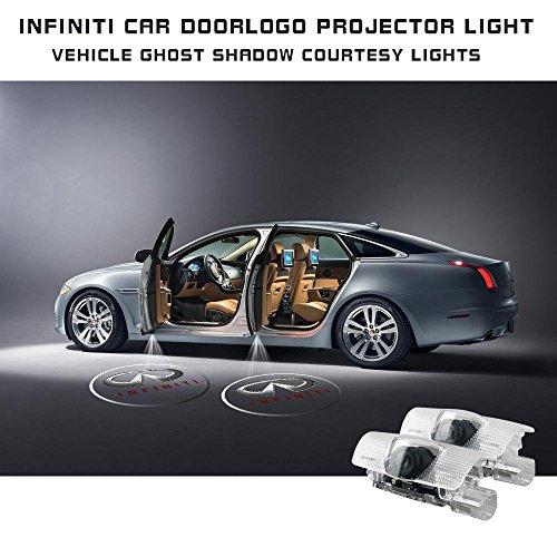 Moonet 2x Door LED Courtesy Shadow Ghost Lamp Projector Light for Infiniti Ex Fx G M Series Jx35 Q50 Q70 Qx70 Qx50