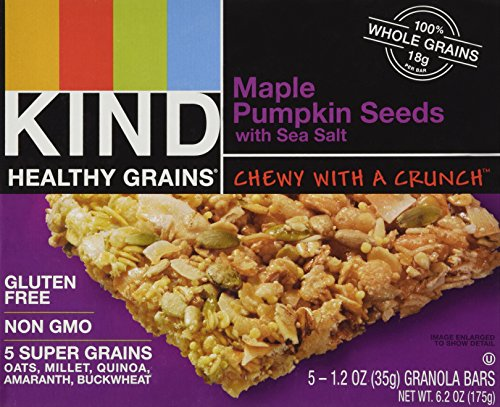 - KIND Healthy Grains Bars - Maple Pumpkin Seeds with Sea Salt - 1.2 oz - 5 ct - 4 pk