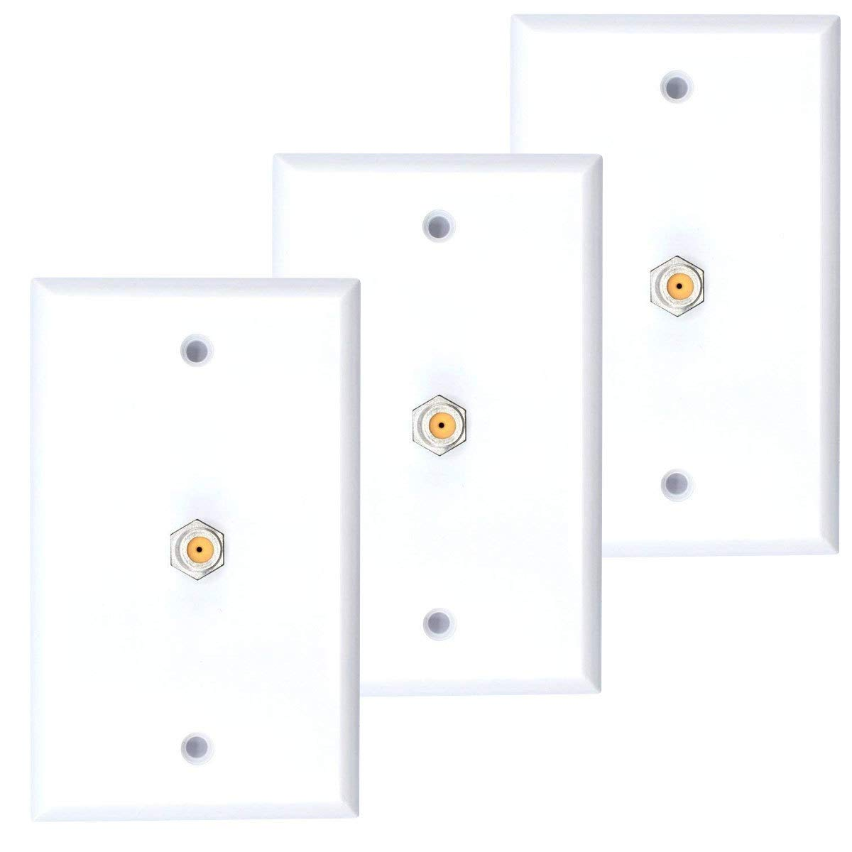 White Coax Cable Wall Plate