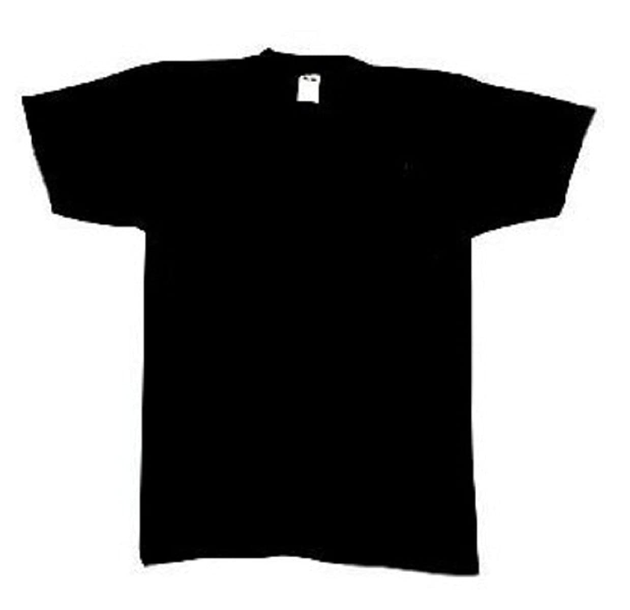 Amazon.com  6989 100% Cotton Black T-Shirt (Large)  Military Apparel Shirts   Clothing f5aaa40cb32