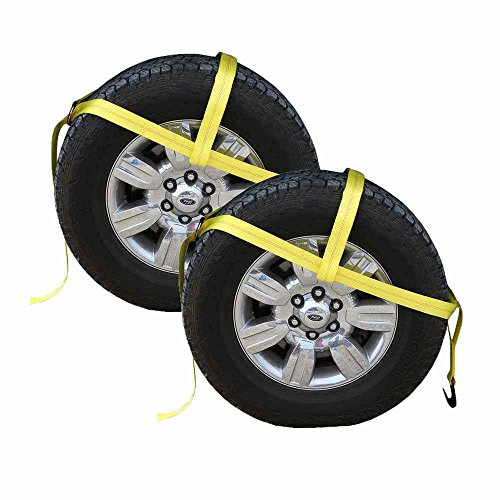 - US Cargo Control Yellow Adjustable Tow Dolly Strap with 2