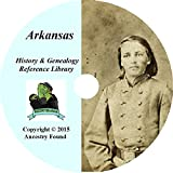 Arkansas History & Genealogy on DVD - 76 books - Ancestry, Records, Family
