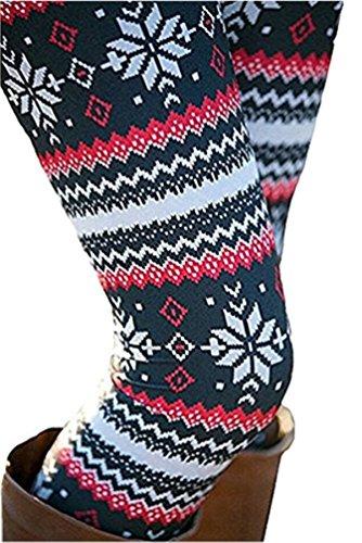 Sipaya Womens Casual Fall Xmas Party Leggings Tights Ankle Length Elastic Waist Pants S]()