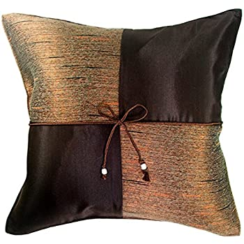 Amazoncom ARTIWAreg Chocolate Brown 16x16 Decorative Silk