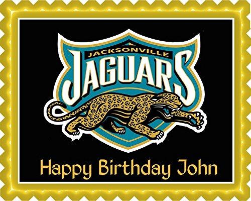 Jacksonville Jaguars 2 Edible Birthday Cake OR Cupcake Topper - 7.5 x 10' rectangular (Jacksonville Jaguars Cake)
