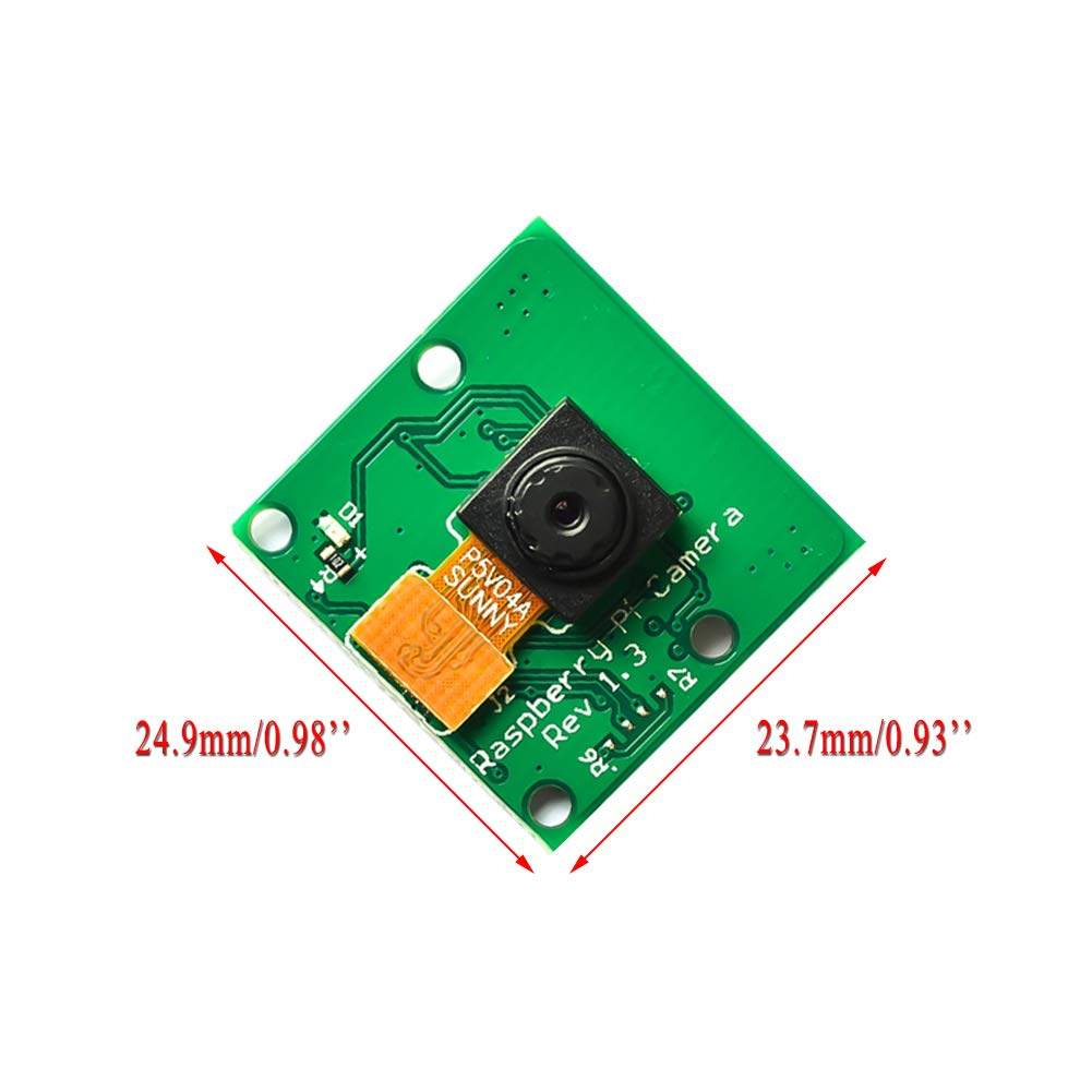 Webcam Support 1080p 720p Video Electrely Camera Module 5MP with 15cm Soft Cable for Raspberry Pi 3 Model B Pi 2 Pi 1 CSI interface
