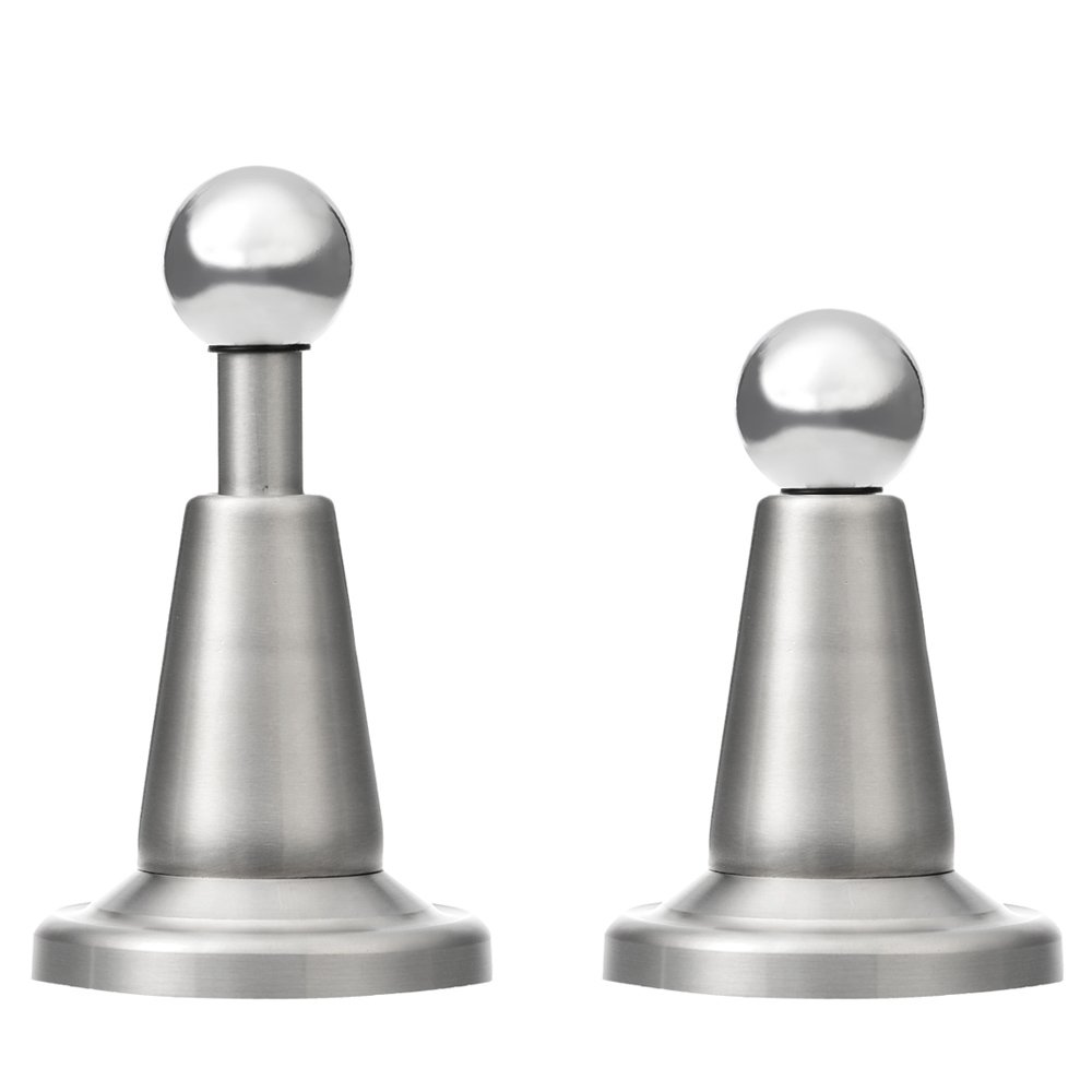 Lizavo DS-002 Stainless Steel Soft-Catch Magnetic Door Stop in Brushed Satin Nickel, Wall Mount-2 Pack by LIZAVO (Image #1)
