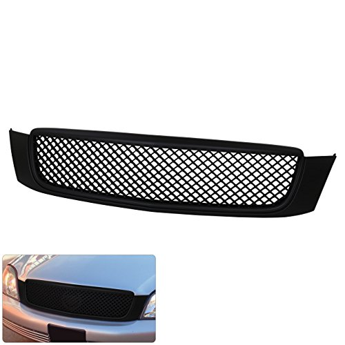 Cadillac Deville Black Luxury Sport Front Bumper Mesh Style Grill Grille Replacement Upgrade