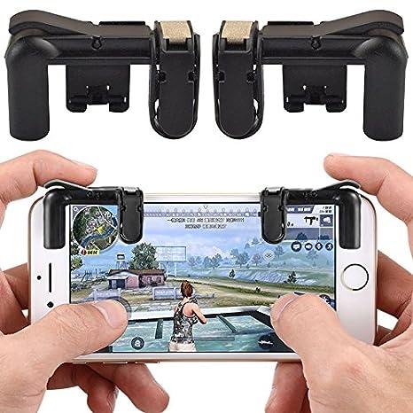Mando de juegos para teléfono móvil Tianu, controlador de juego, Smartphone abrazadera de juego con botón de disparo Aim Key L1R1, ...