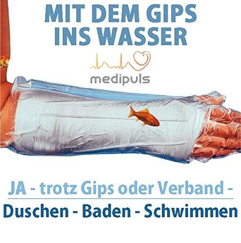 AQUASTOP - Oberarm, Erwachsene (78 cm) - wiederverwendbarer wasserdichter Überzug für Verband und Gips┇Reusable watertight, bandage and cast cover
