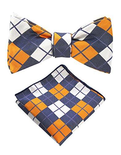 Plaid Bowties (JEMYGINS Original Plaid Mens Bowtie Self Bow Tie & Pocket Square Set (01#11))