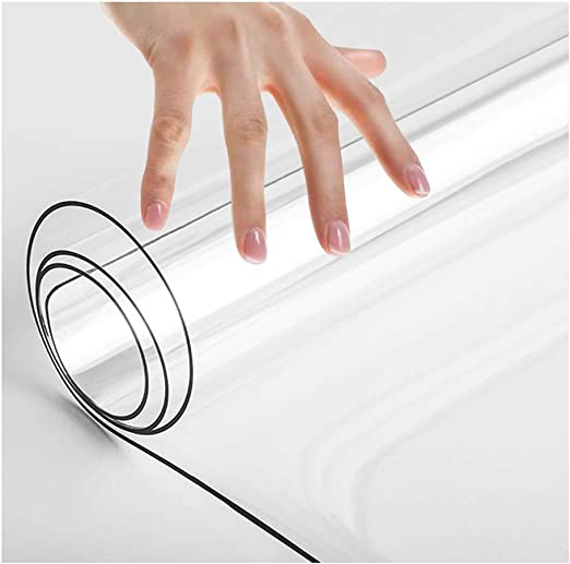 WUZMING PVC Impermeable Mantel Transparente El Plastico Protector ...