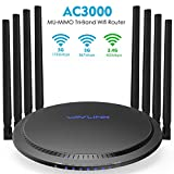 WAVLINK WiFi Router AC3000 Wireless Tri-Band Gigabit Router/High Speed WiFi Range Extender,4K Streaming and Gaming with USB 3.0 Ports Wireless Internet Router