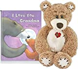 "I Love You Grandma Story Time Bedtime Book and Stuffed 12 "" Cuddley Teddy Bear"