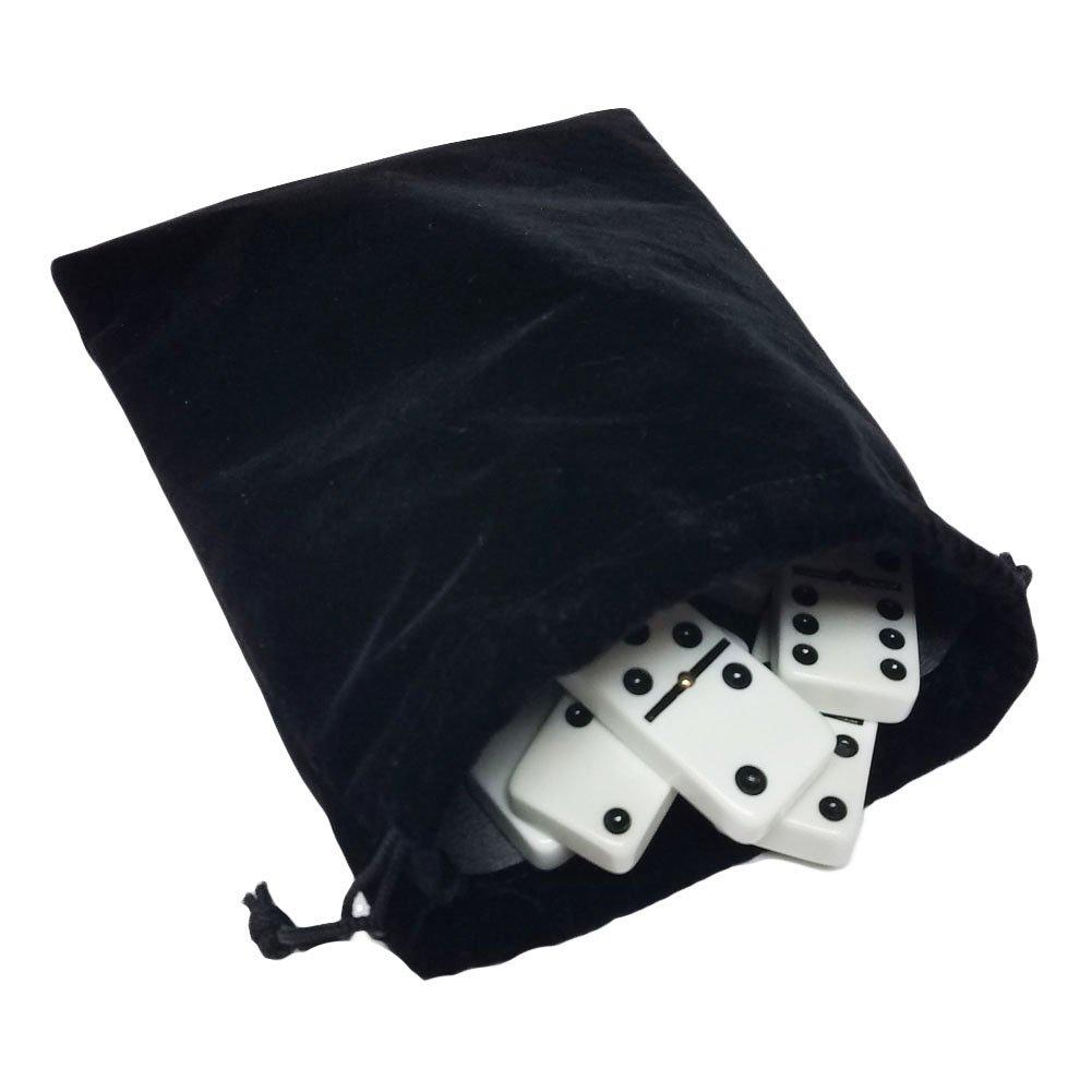 【初回限定】 Domino Double Six 6 White White in Tiles Jumbo Tournament Professional Velvet Size with Spinners in Black Elegant Velvet Bag B072WK3BZH, 軽米町:f867313e --- yelica.com