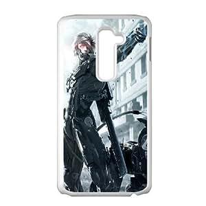 LG G2 Cell Phone Case White Metal Gear Rising Revengeance Raiden OJ516453
