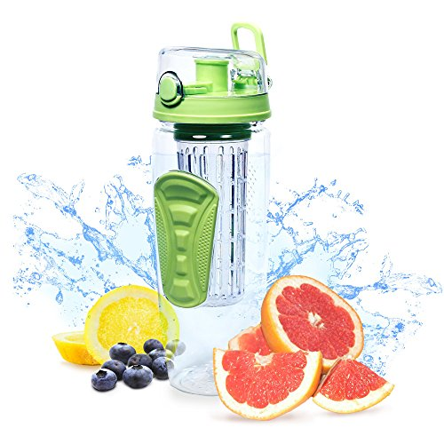 New Fruit Infuser Watertight Bottle Drink Mixer (32oz) Best Sellers Sports Bottle Enjoy infused Water & Healthy Diet Iced Tea & Lemonade