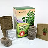 EasyStart Kitchen Garden Herbs - Organic Herb Kit - Everything you need to start 6 organic kitchen herbs