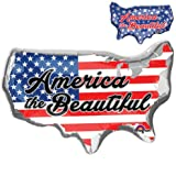 American-Flag-Patriotic Mylar-Balloons. LuftBalloons 33 '' America the Beautiful Balloon American Flag Patriotic-USA Balloon. Foil-Themed-4th-of-July Balloon (5x Pcs Value Pack)