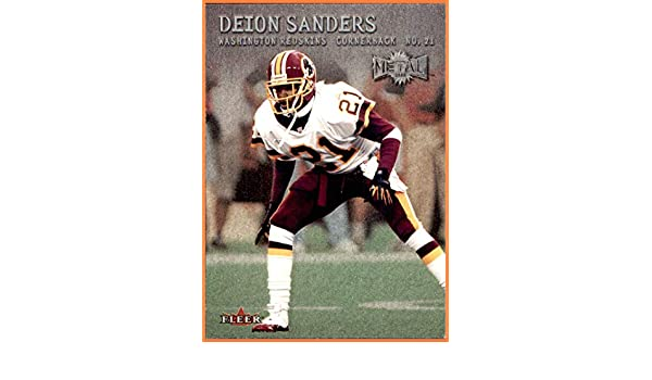 premium selection d4a39 61289 DEION SANDERS HOF WASHINGTON REDSKINS 2000 METAL #73 Fleer ...