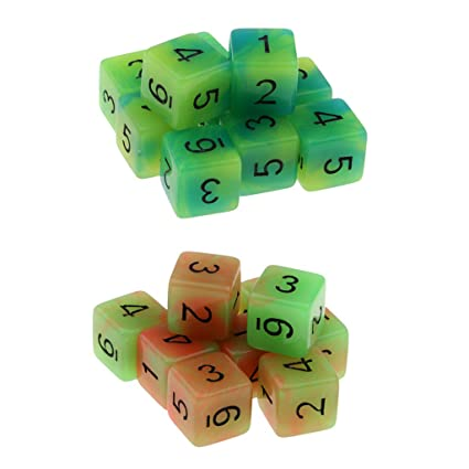10Pcs D6 Dice 12mm Die Six Sided Table Gaming Dice Blank for Role Playing Toys