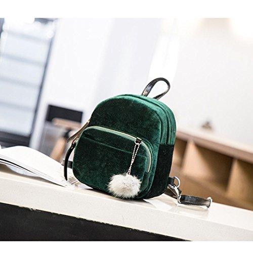 Filles portés Sac Solide Ballon OVERMAL nbsp; Dos Main à Vert Mini Sacs Épaule des Noir Voyage Main Sac Sac à École Sacs Femmes Mode ZI0pqT6I