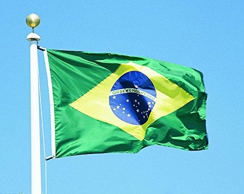 Wave República federativa del Brasil Bandera nacional poliéster República federativa Do Brasil País Banner Pennant, Old...