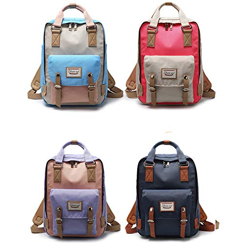 color Women Girls Bags Backpacks Backpack for School Multi Casual Navy Cute Travel Blue amp;beige and Waterproof qgvw7w