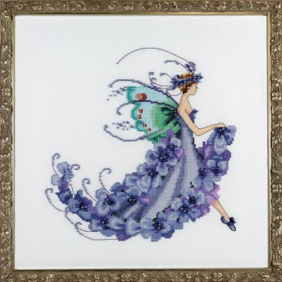 Wisteria Cross Stitch Chart by Nora Corbett Designs