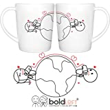 BOLDLOFT Love Has No Distance Long Distance Mugs for Long Distance Relationships, Long Distance Relationships Gifts, Long Distance Gifts, Long Distance Couples Gifts, Long Distance Boyfriend Gifts