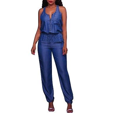 Bestpreis Original Kauf wo kann ich kaufen ZZXIAN Overall Damen Sommer Jeans Casual, Jumpsuits Damen ...