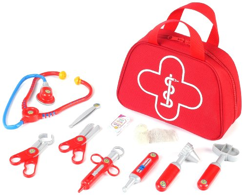 Klein - 4335 - Jeu d'imitation - Trousse docteur en tissu avec accessoires