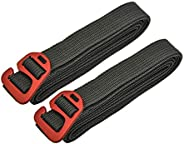 riemot Ratchet Tie Down/Tensioning Belts, Hook Release Luggage Straps, Backpack Pack Straps with Aluminum Allo