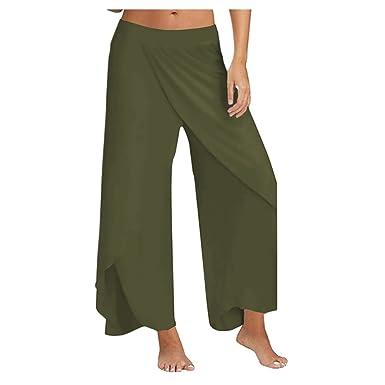 Xinvision Pantalones Anchos para Mujer Deportivos Cintura ...